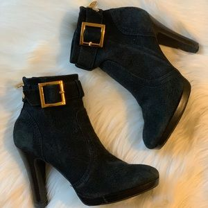 Tory Burch Melrose Suede Ankle High Heel